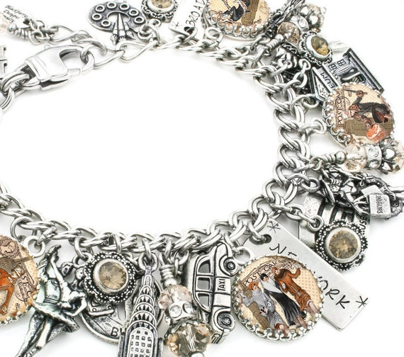 new york charm bracelet new york jewelry new york bracelet