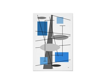 Rauth Art Print Rust or Blue in Various Sizes & Papers with Free Shipping