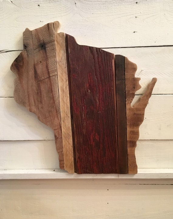 Rustic Wood Wisconsin Sign | Reclaimed Wood Wisconsin Sign | Wisconsin - Rustic Wood Wisconsin Sign Reclaimed Wood Wisconsin Sign