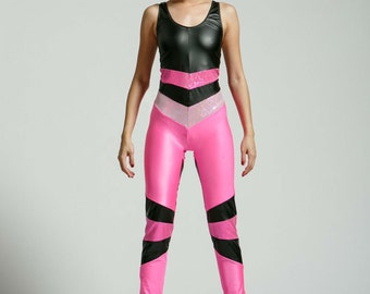 Medium Pink Vinyl Suit for the Modern Superhero - Free Shipping