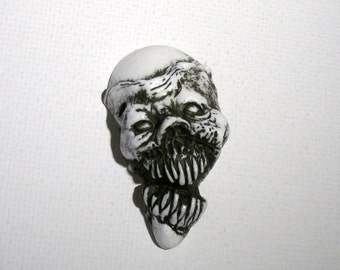 White Zombie Series 2 Zombie Head Pendant