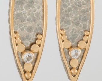 Two Toned Leaves Earrings