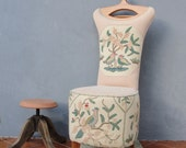 Butler Chair Embroidered Clothes Stand Valet Stand Vanity Stool Wooden Furniture Vintage Embroidery