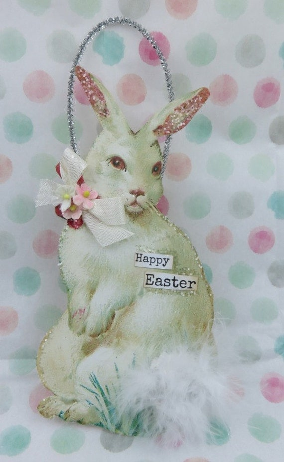 happy easter bunnies flowers-#8