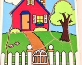 1988 Playskool Wood Puzzle Home Sweet Home 186-20