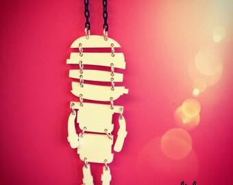 last one! sale!! MUMMY halloween laser cut acrylic necklace