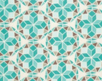 SALE fabric, Birch Farm Fabrics by Joel Dewberry for Free Spirit- Prism in Egg Blue - Fat Quarter to Yardage, Free Shipping Available
