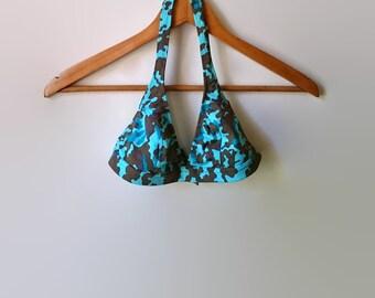 Bikini - Camouflage Print - 90s Vintage Swimwear
