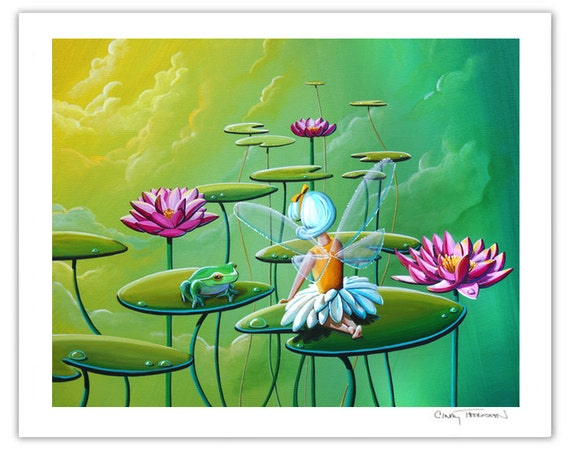 Dreamer Series Limited Edition - The Fairy And The Frog - Signed 8x10 Semi Gloss Print (6/10)
