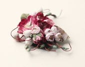 Mauve vintage flower clip, Bridal hair clip, Vintage wedding accessory, Floral bridal clip, Pink hair clip, Wedding flower clip