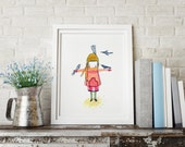 Stowaway Migrating II - Girl Art - Holli - Nursery Wall Art - Nursery Decor - Childrens Art - Kids Wall Art - Nursery Art