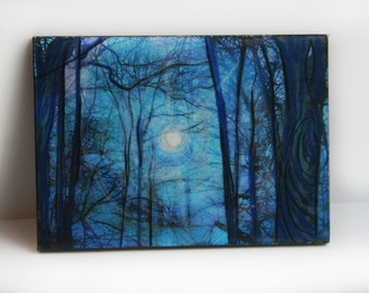 Winter sunrise, aceo original, 2.50x3.50 inches #gift under 20 #Art #aceo original #natureart #Miniature art #art #Aceo original