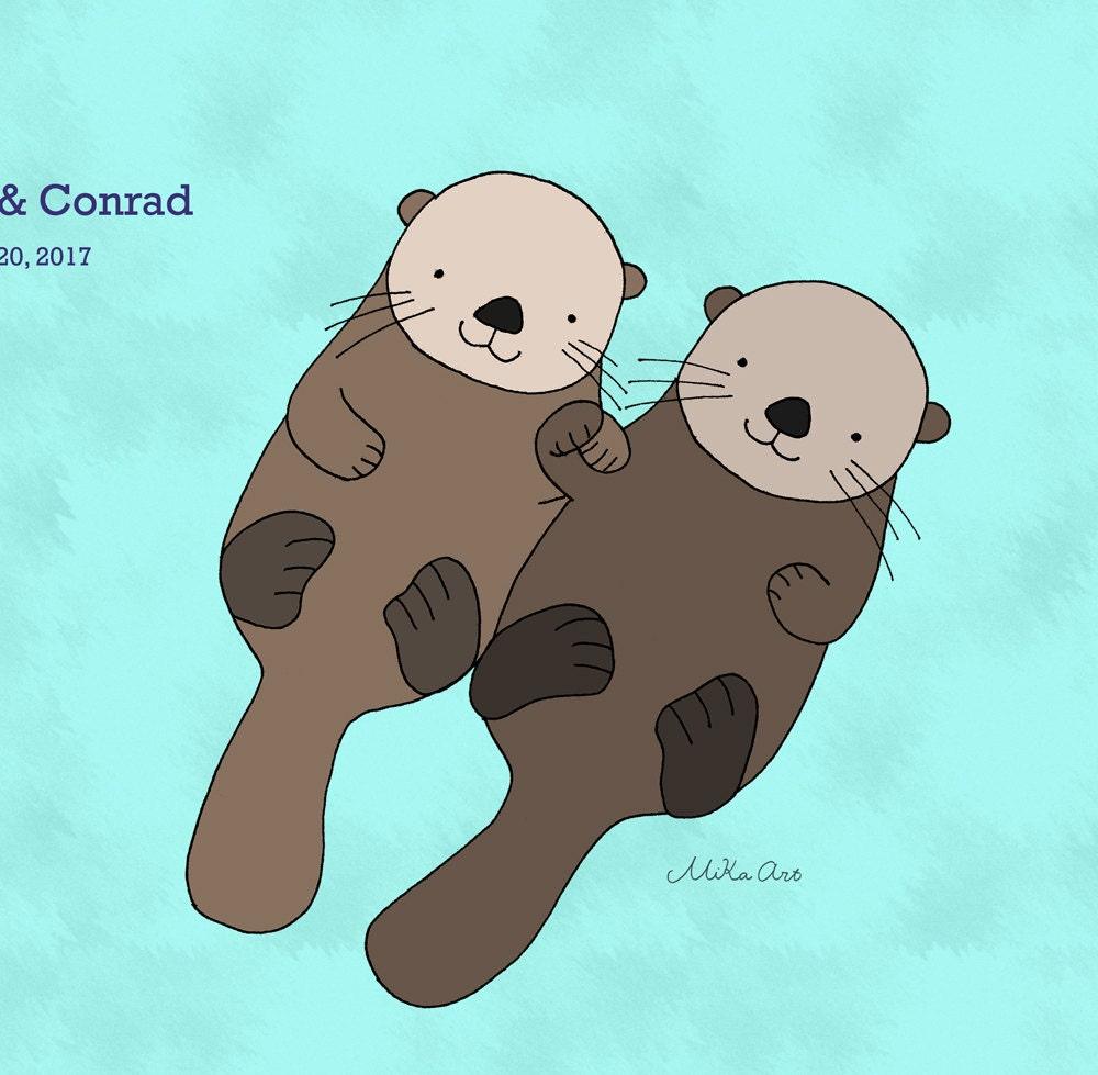 cute otter cartoon
