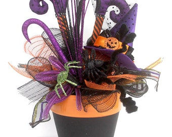 Halloween Witch Arrangement, halloween decor, halloween party decorations, witches purple boots, halloween centerpiece, witch boots decor