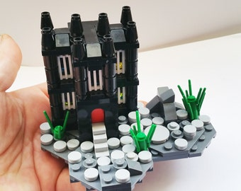 Gothic mansion. custom LEGO creation MOC OOAK instructions included