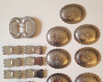 1950's Navajo Concho Belt Sterling Silver