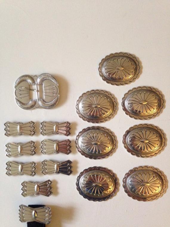 1950's Navajo Concho Belt Sterling Silver