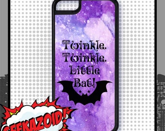 Twinkle Twinkle Little Bat Alice In Wonderland Phone Case for iPhone and Samsung Galaxy Fantasy Illustration Watercolor It's Always Tea Time