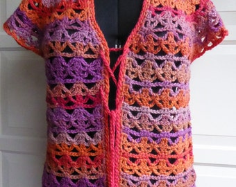 Crochet jacket ladies size medium