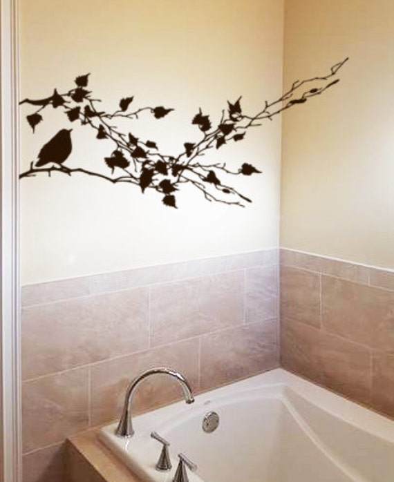 Wall decal bathroom decor kitchen vinyl wall decal bird decor