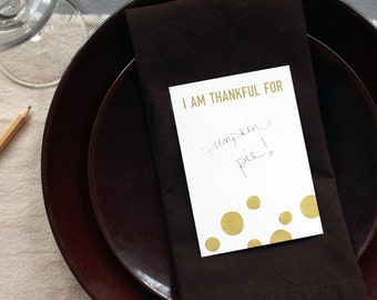 I Am Thankful For: Gold Dots 6-Pack