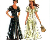 New Look 6206 Boho Peasant Dress Puff Sleeves Shaped Bodice Button Front Size 8 10 12 14 16 18 Uncut Sewing Pattern