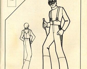 Daisy Kingdom 38 Mens Stretch Ski Pants Waist Size 28 - 38 Vintage Sewing Pattern 1983