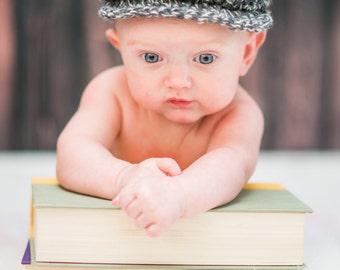 9 Sizes Boy Hat Baby Hat Toddler Hat Baby Boy Hat Toddler Boy Hat Irish Donegal Cap Donegal Hat Charcoal Gray Cream Flat Cap Driving Newsboy