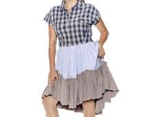 Shirt Dress Sewing Patterns, Upcycled, DIY Dress, Dress from Mens Shirts