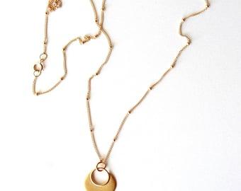 Gold Lotus necklace namaste yoga jewelry