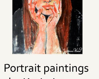 Acrylic Woman Expressionist Portrait Painting. Office or Living Room Art. Friend Gift for Her. Ready to Ship