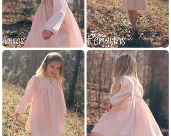 The Eleanor Dress, Top and Romper PDF Sewing Pattern Size 12 month - 12 year Girls Toddler Tween