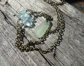 Surf Tumbled Hawaiian Sea Glass and Brass Necklace