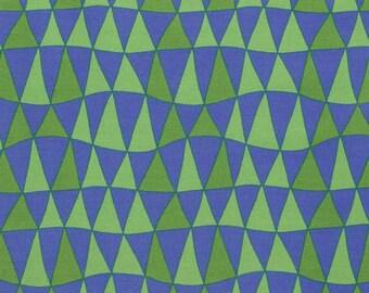 Jane Sassaman Periwinkle Triangles fabric 1 yard