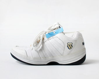 SALE - NOS 1990's K SWISS White Leather Sneakers