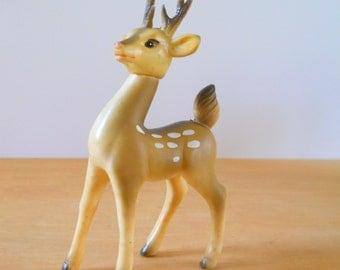 Vintage Rubber Japan Deer • Vintage Soft Plastic Buck • Vintage Christmas Reindeer