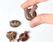 Magnets Cowboy or Cowgirl Western Rodeo Horse, Boots and Saddle in Polymer Clay Gift Set of 4