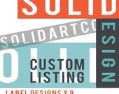 CUSTOM Label Designs x 9 for Sincerity Bath and Body