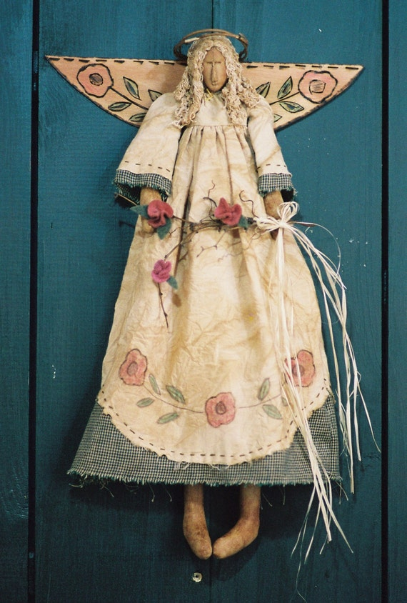 Mailed Cloth Doll Pattern - 18in Victorian Garden Angel
