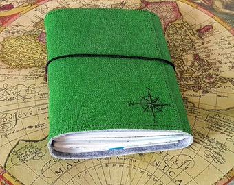 explorer journal with maps a travel journal in limited edition - green by tremundo