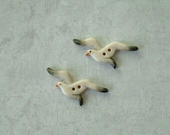 Sea Gull Button set of 2
