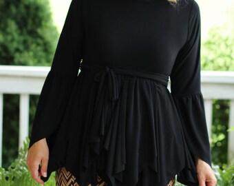 LillyAnnaLadiesApparel AVA Handkerchief Shirt Top Lala Modest