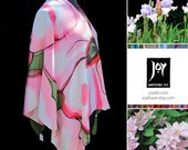 Floral Collection - Hand Painted Silk Poncho