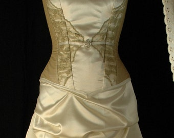 Clementine steel boned corset wedding gown