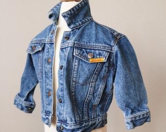 1980s Indigo Jordache Jean Jacket >>> Size 24 Months