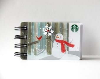 STARBUCKS HOLIDAY CHRISTMAS Notebook with gift card covers front and back