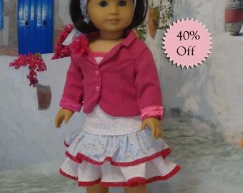 Summer Vacation- Skirt & Jacket Set for American Girl **Sale**