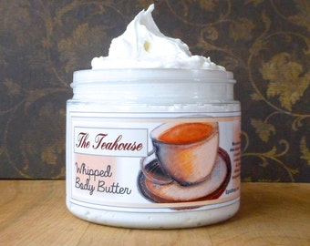 The Teahouse Whipped Body Butter - Black and green teas, bergamot, honey, incense