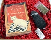 Cat Lover    Crazy Cat Lady  Gifts Under 20 Dollars   Cat Book   Wool Cat Toy  Cat and the Crumudgeon Gift Set