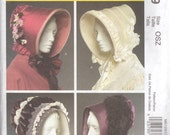 McCalls 5129 Misses Historial Bonnets Pattern Civil War Victorian 1800s  Womens Costume Sewing Pattern SizeSmall Medium Large UNCUT